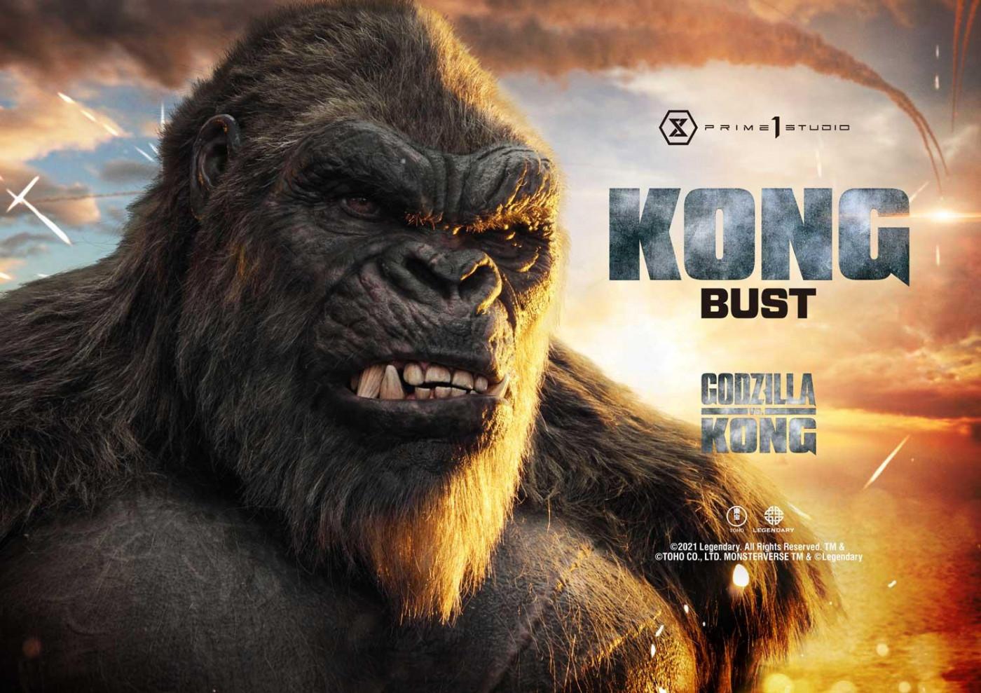 Life Size Godzilla vs Kong Kong Bust