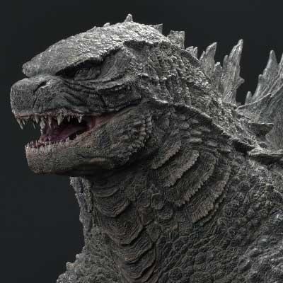 Life Size Godzilla vs Kong Godzilla Bust Bonus Version